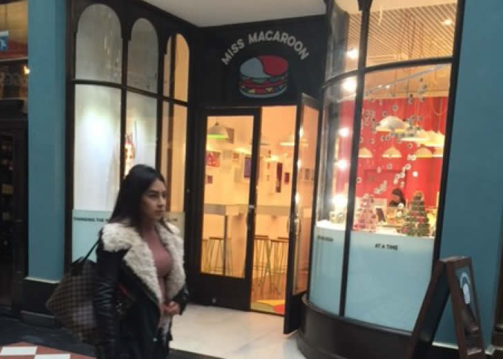 Miss Macaroon opens in Great Western Arcade