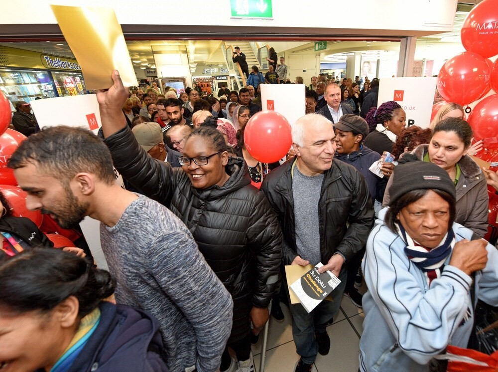 Hundreds of excited customers flock to Matalan for their opening at the Mander Centre, Wolverhampton